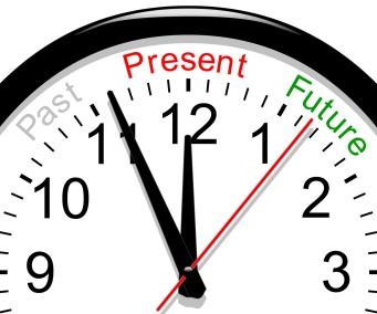 Clock past, present, future